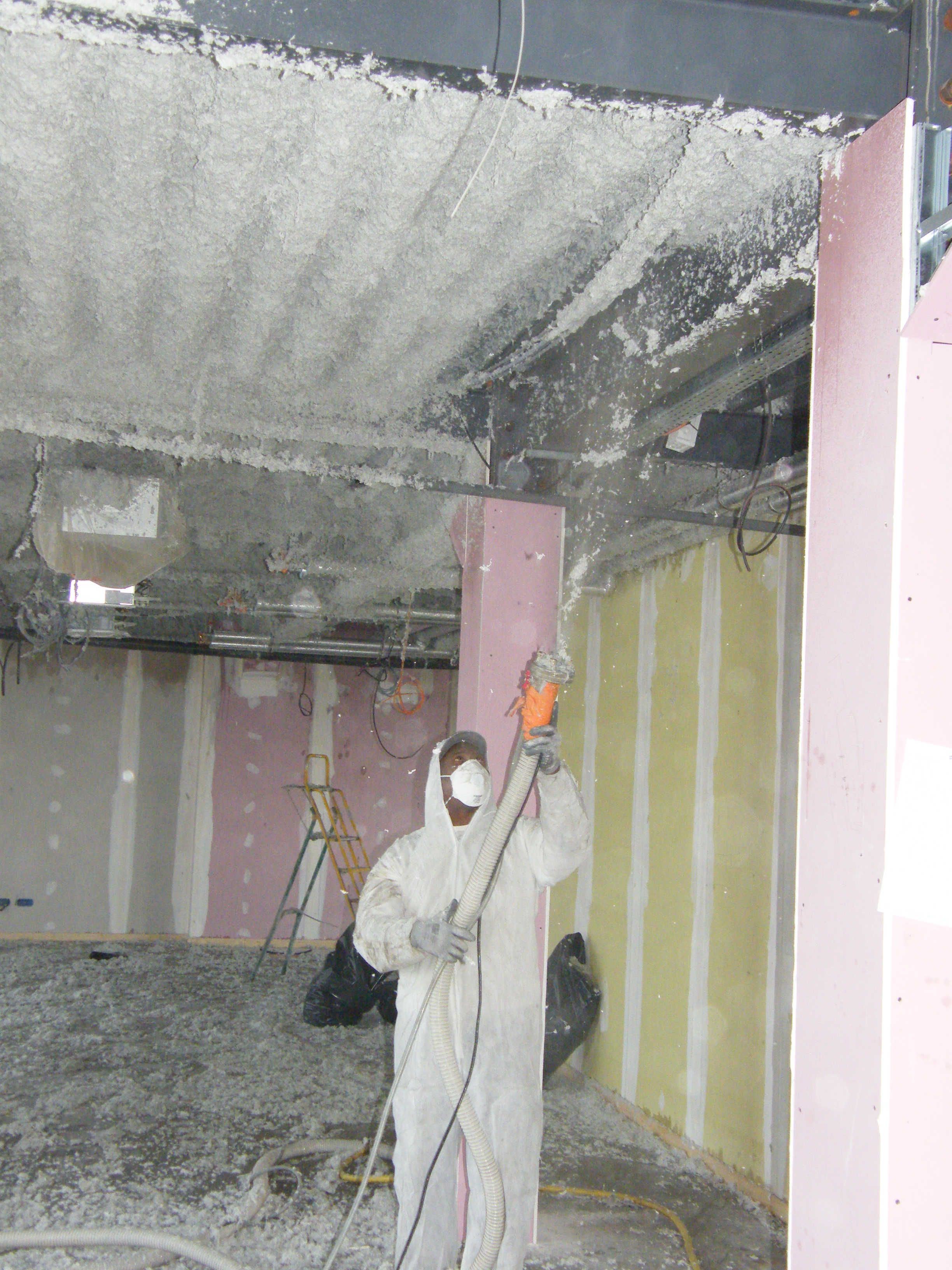 Flocage sur plancher collaborant compte isolation for Isolation faux plafond
